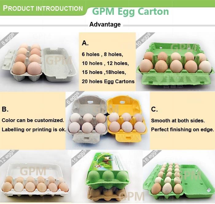 Fiber Paper Egg Box making