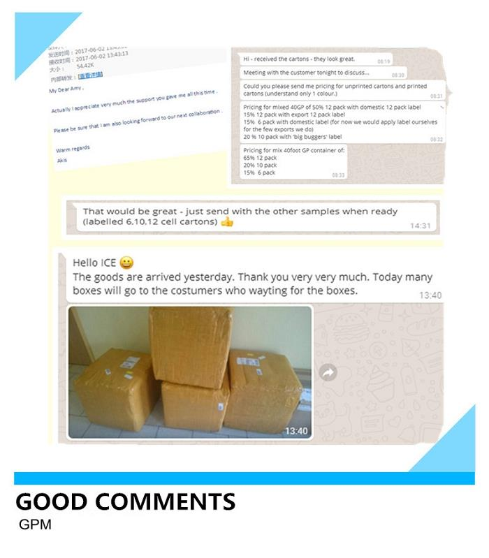 Fiber Paper Egg Box feedback
