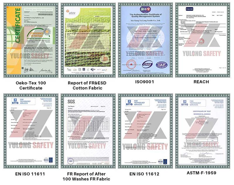 certification about fr fabric