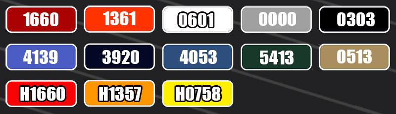 garment common color