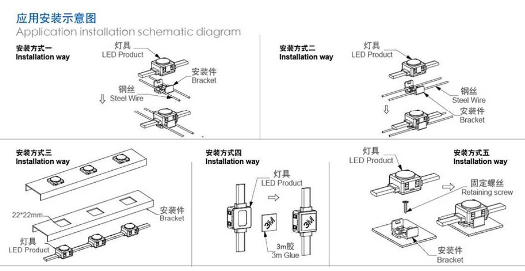 安装 景观亮化 建筑照明 工程款20mm 22mm 方形 DMX LED点光源 (.jpg
