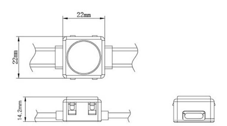 尺寸 景观亮化 建筑照明 工程款20mm 22mm 方形 DMX LED点光源 (.jpg