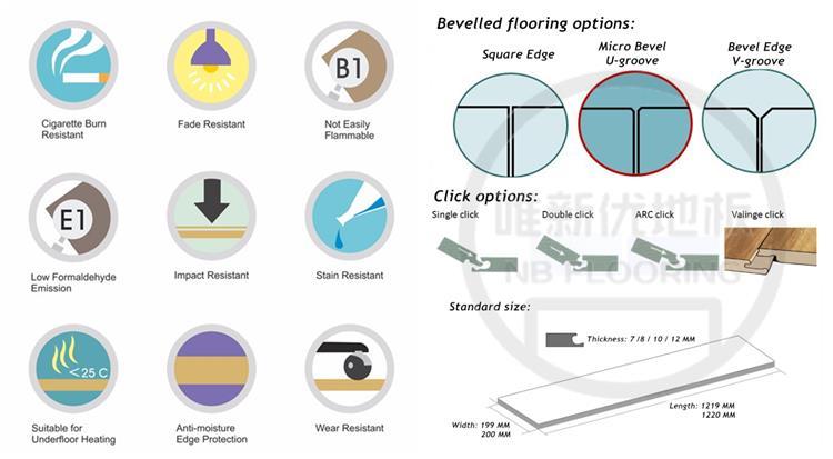 8mm wood texture hdf laminate flooring singapore