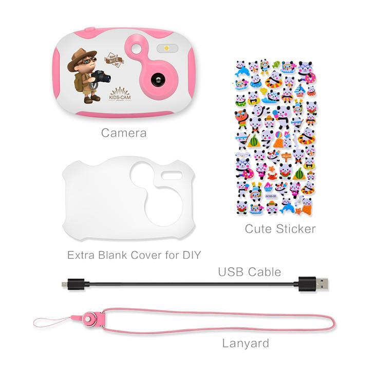 Pink digital camera