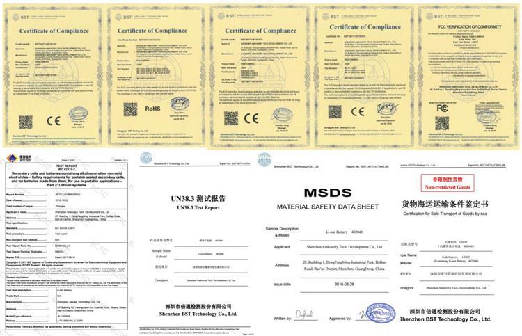amkov camera with certificates