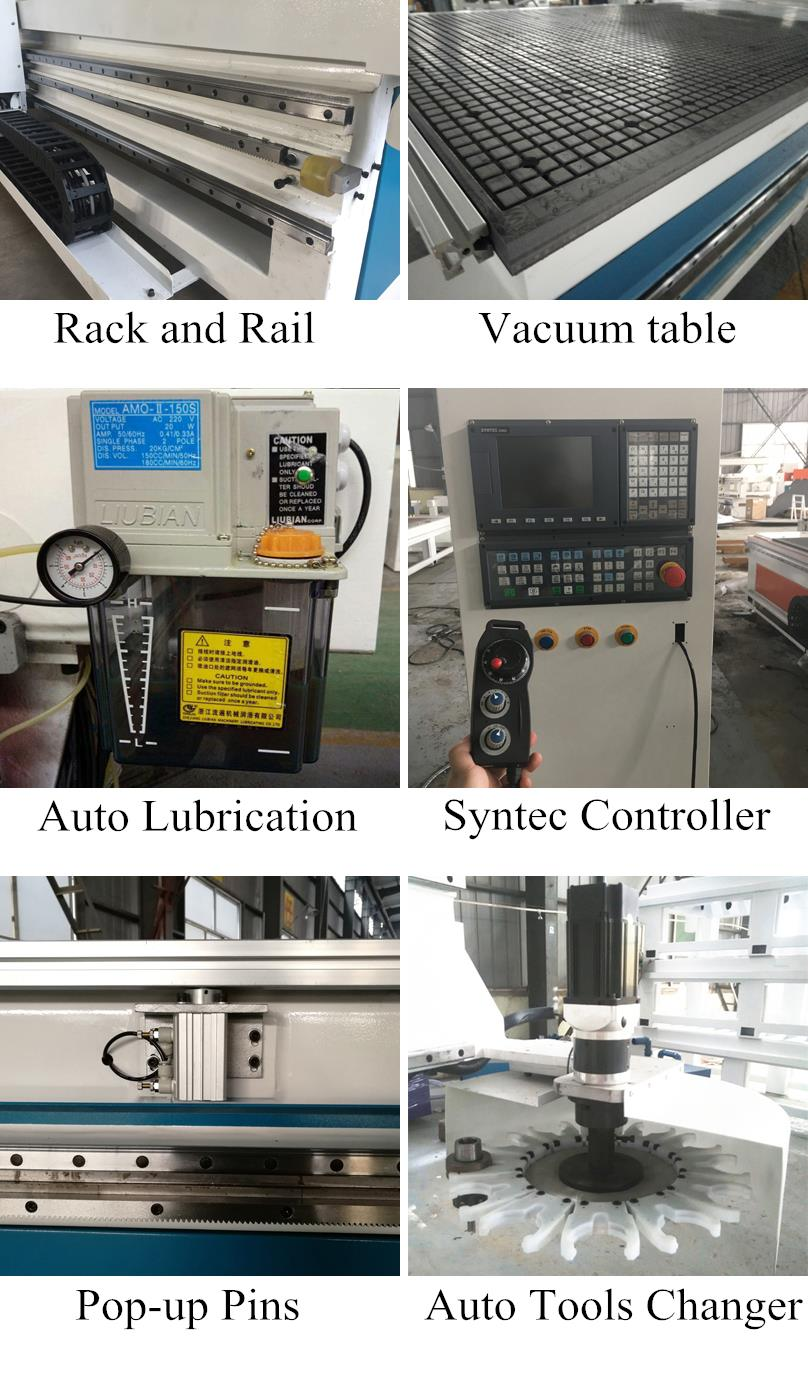 High Level ATC automatic tools changer furniture making machine