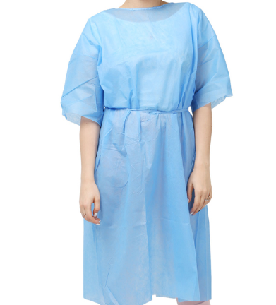 green hospital gown