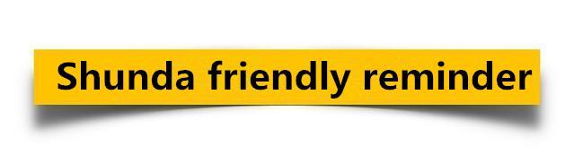 shunda company friendly reminder