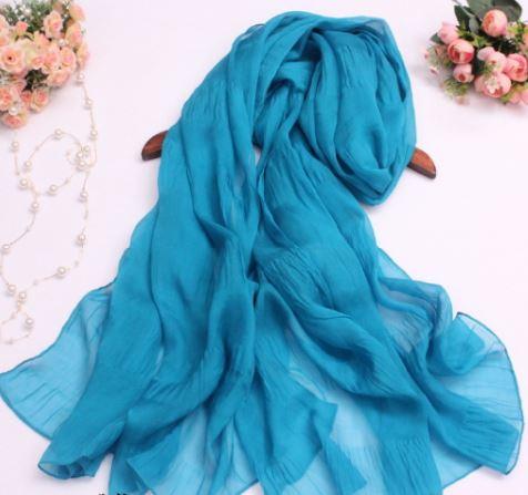 pure color silk scarf 6 0