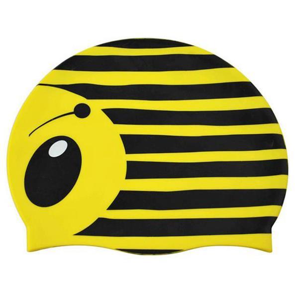 Silicone swim cap bee