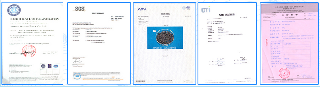ether grade tpu material Certificates