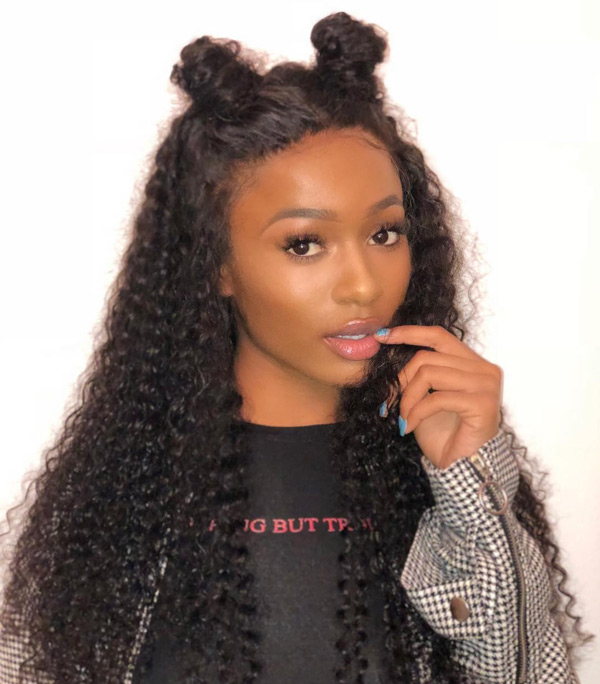 Curly Hair With Lace Frontal