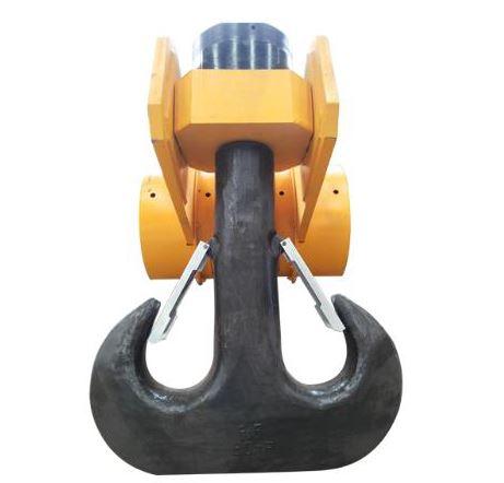 crane double lifting hook block