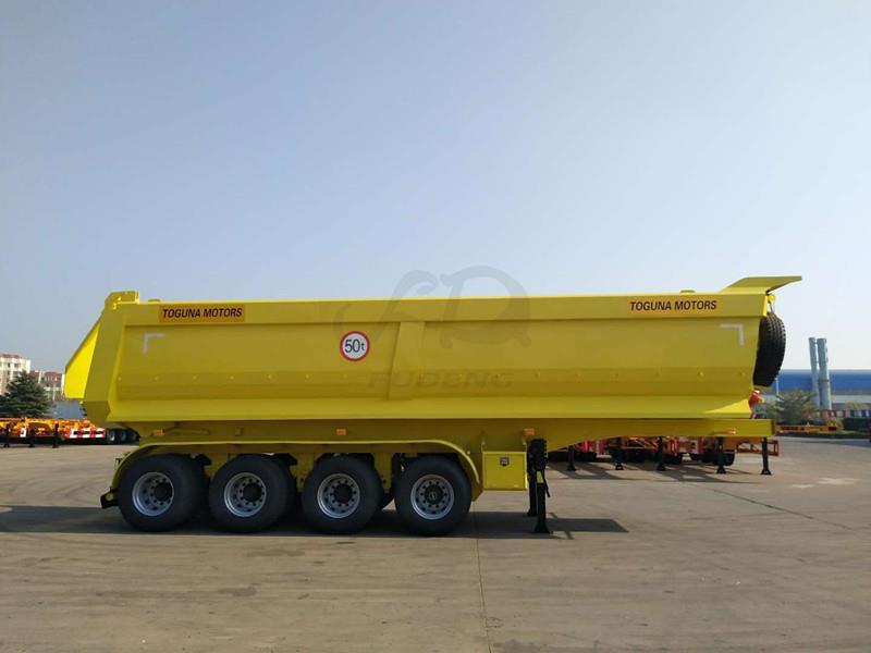 4 axles U dump trailer