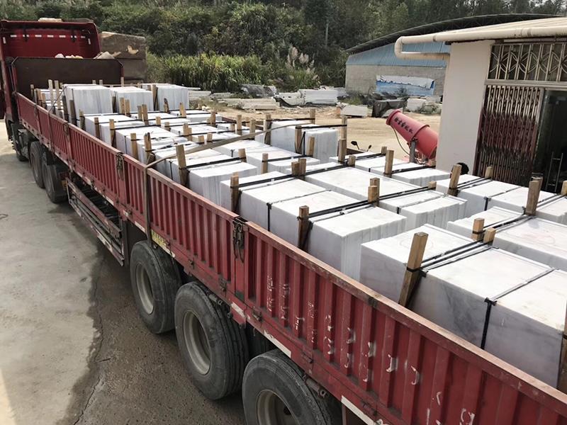 Guangxi White Marble Loading