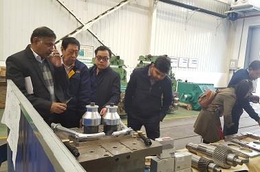 india customer visiting rolling mill spiral bevel gear