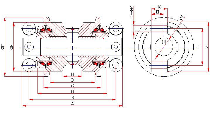 Volvo EC229/EC230/EC160B/EC230B TRACK ROLLER