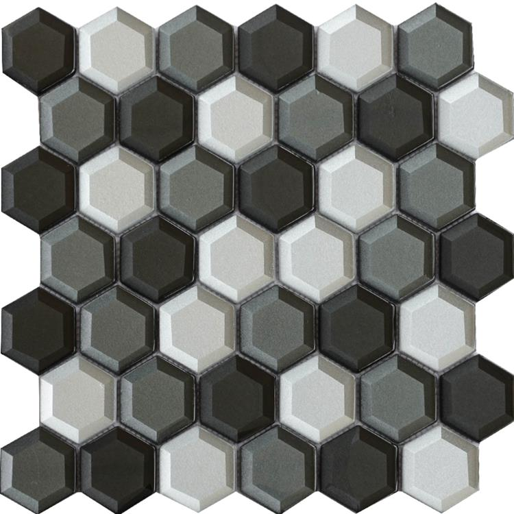Glass Mosaic Tile Bathroom (1)