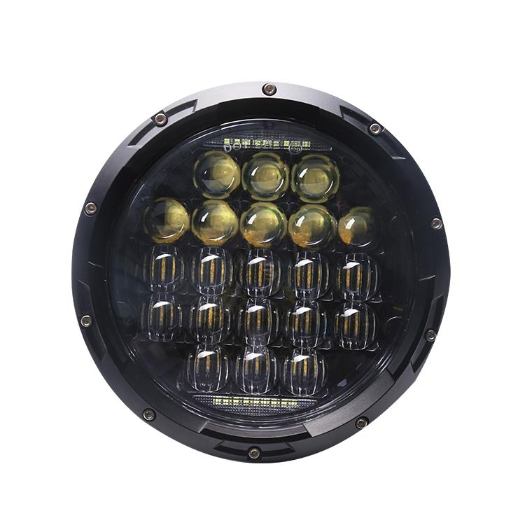 75w 7 inch 5D led headlight black color