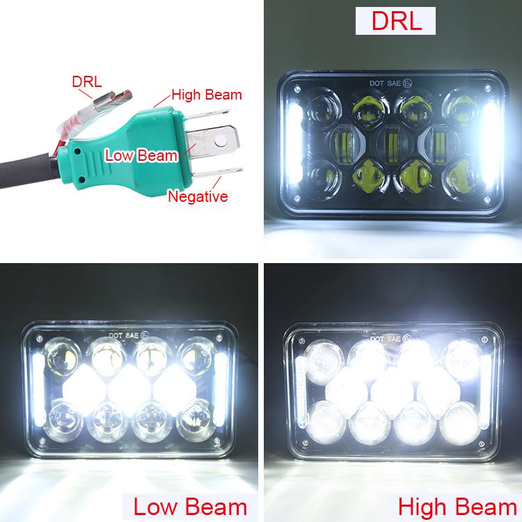 4. high low beam and DRL(H4 plug)