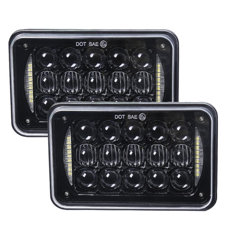 1. 4x6 inch 48W square headlights