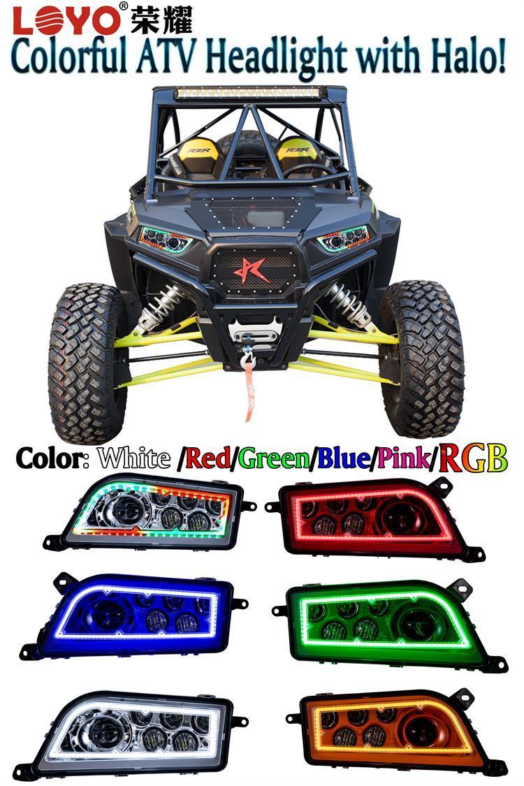 RGB Halo Ring ATV Polaris RZR 1000 LED Headlight