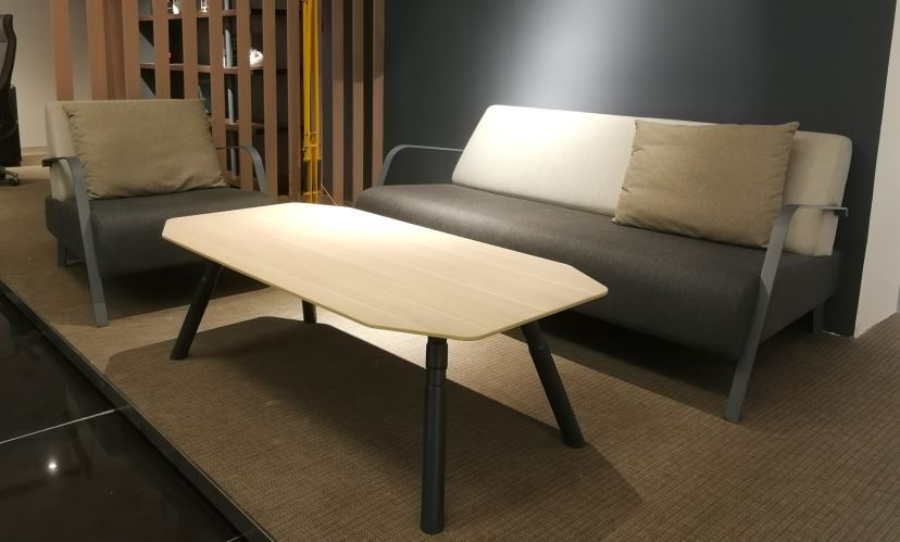 Link me office sofa with coffee table
