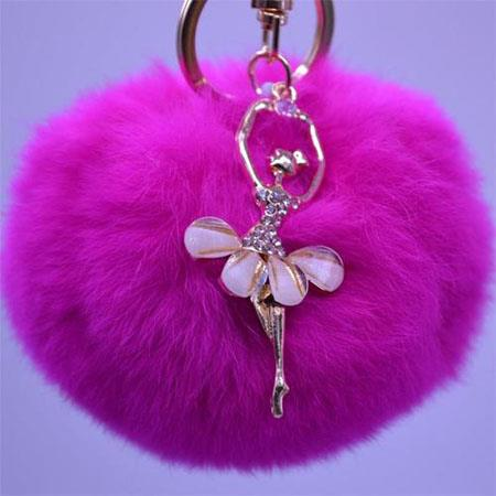 Hair ball key chain
