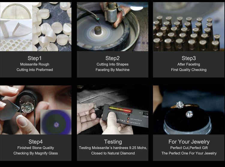 Wholesale Synthetic Moissanite Rough cutting process