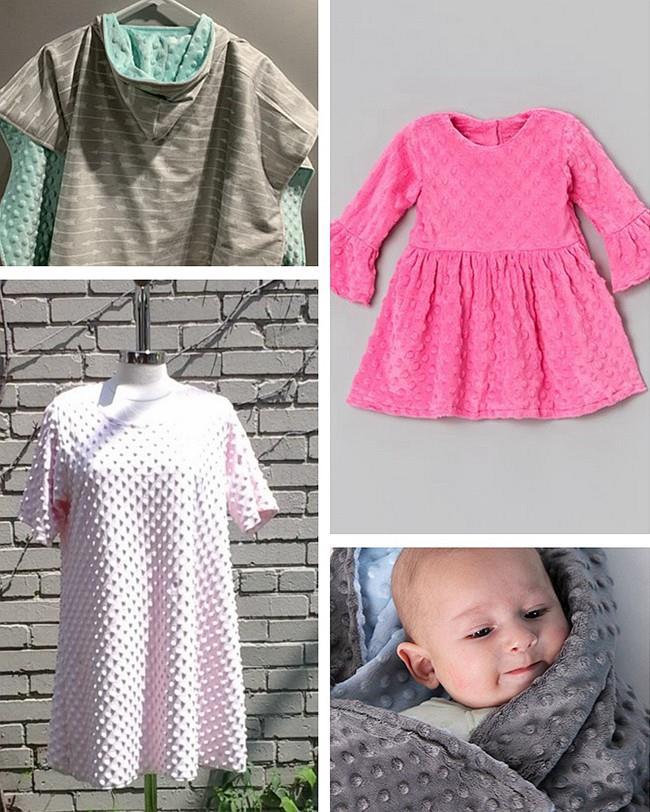 Minky oblečení módní tkaniny 6