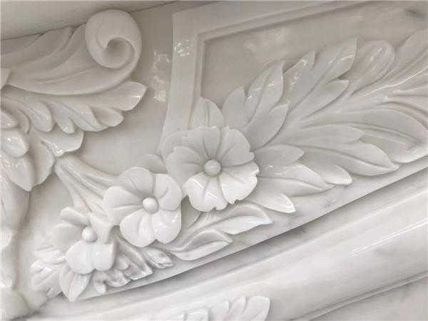 Calacatta marble fireplace .JPG