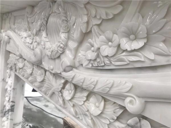 Calacatta marble fireplace for decoration.JPG