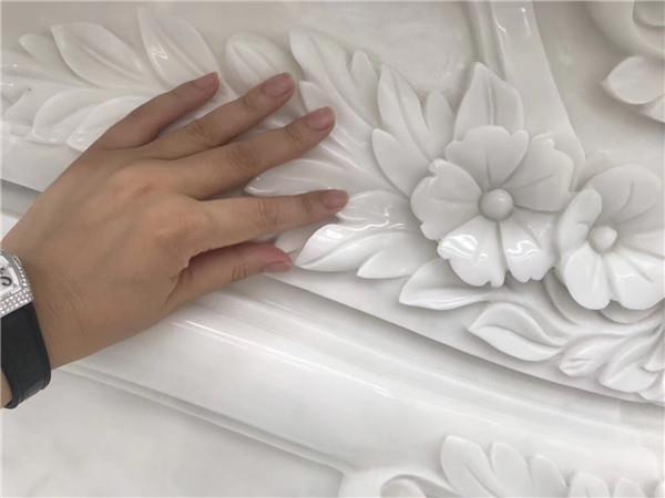 Luxurious Calacatta marble fireplace for wall.JPG