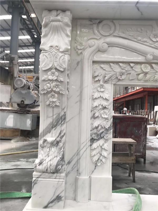 Luxurious Calacatta marble fireplace .JPG