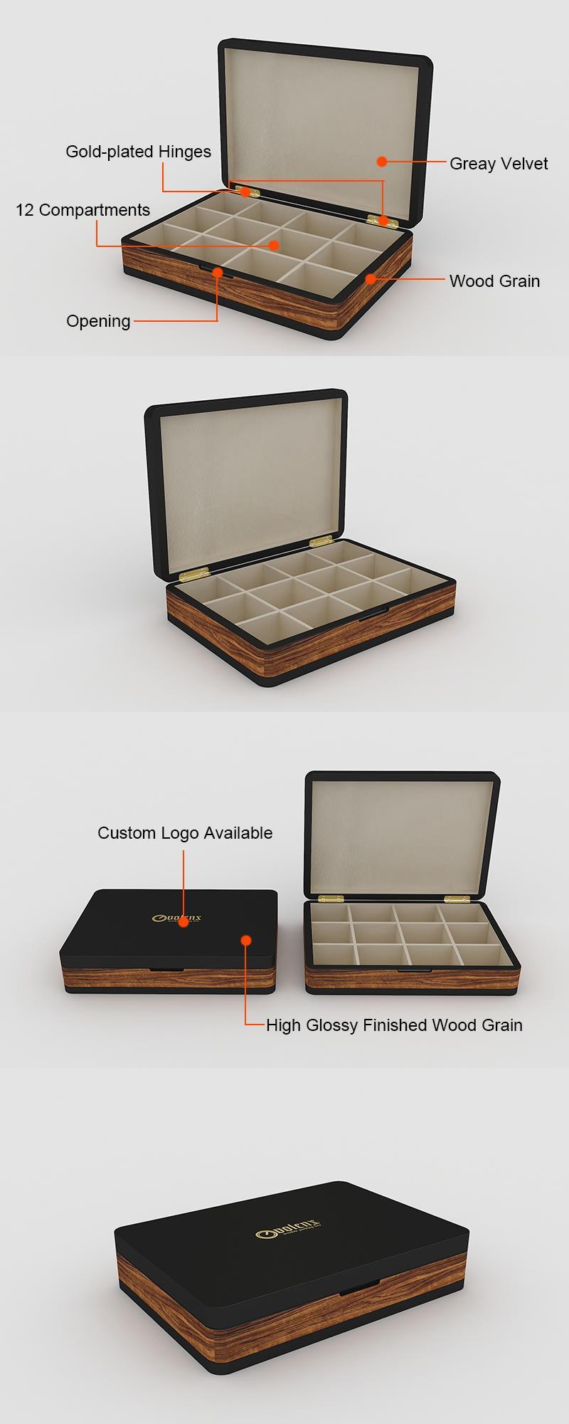 drvena kutija za skladištenje čaja