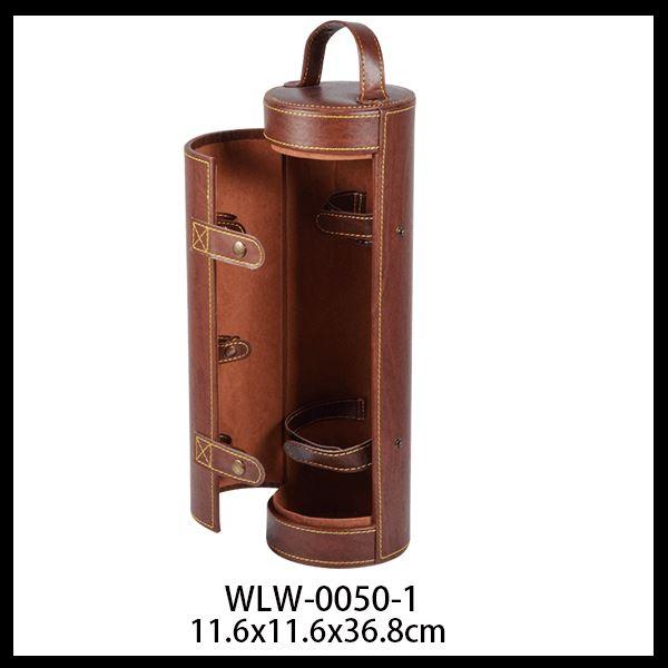 leather wine box size