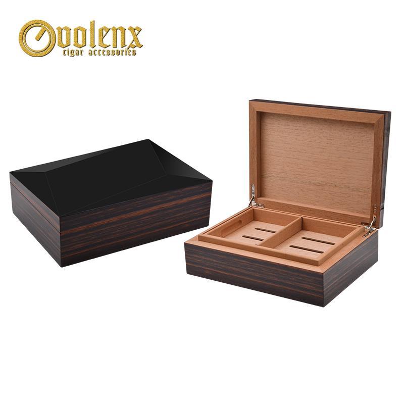 ebony wooden cigar box-001