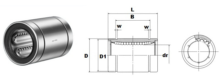 LM series linear motion bearing