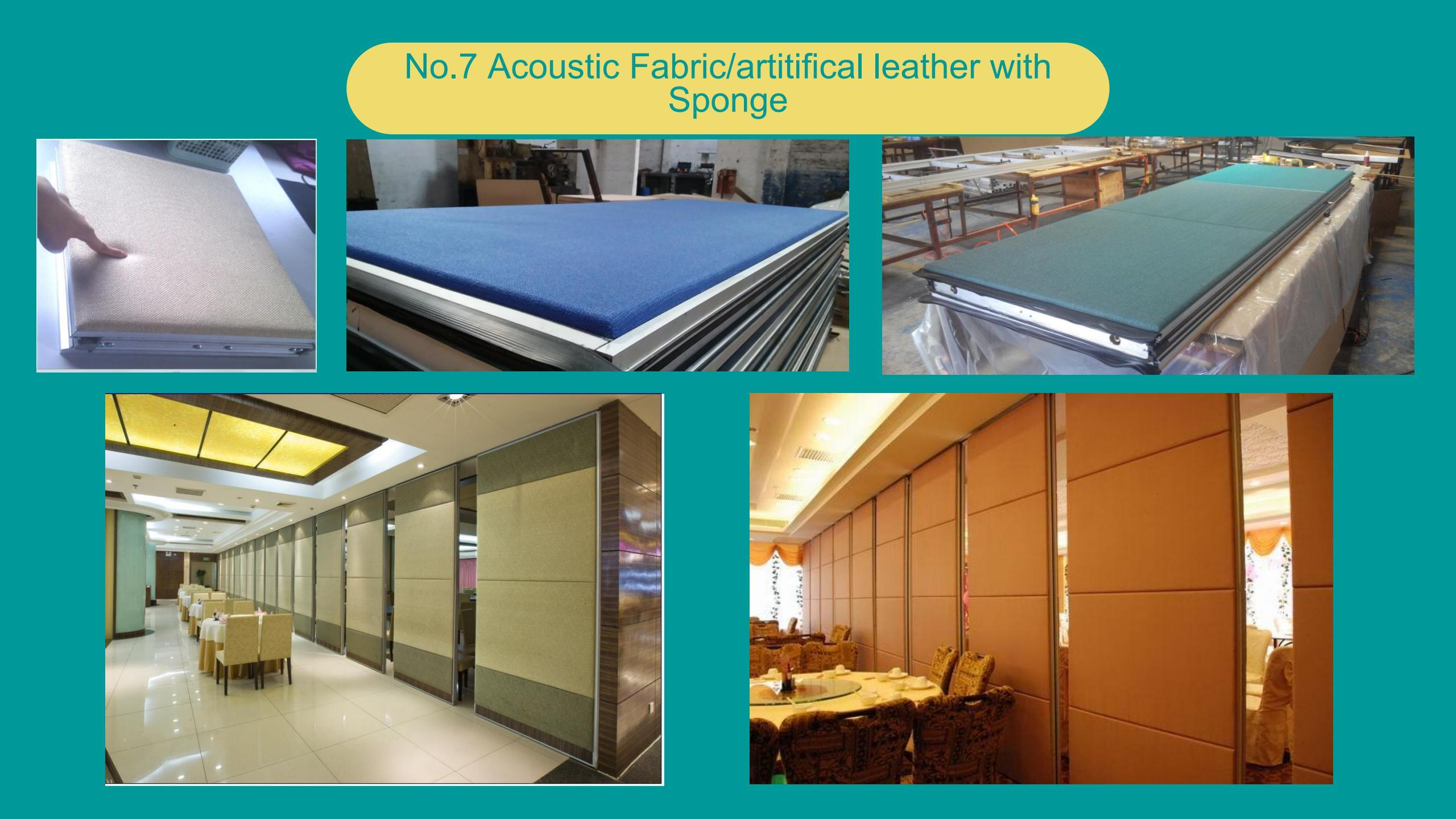 Acoustic Fabric/artitifical leather with Sponge