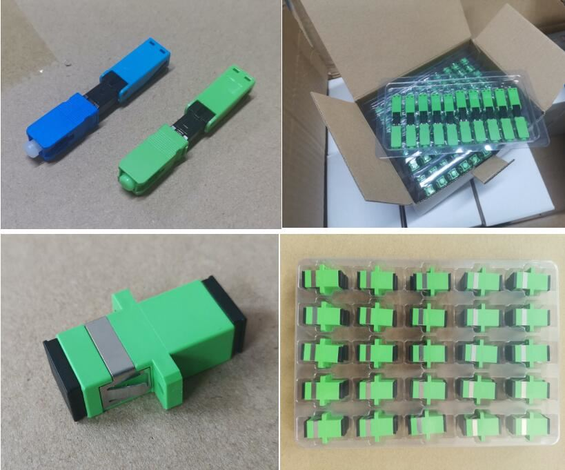 fast connector & fiber adaptor cargo ready for packing