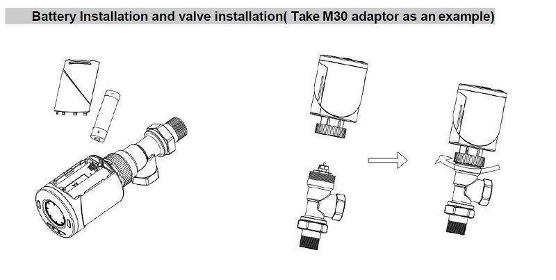 installation of radiator thermostat