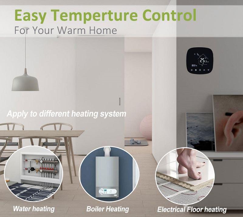 application of wifi underfloor heating thermostat