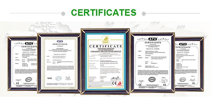 certificate of HTW-WF02-FC smart digital thermostat