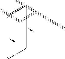sliding folding partition Example (a)