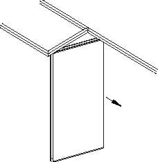 sliding folding partition Example (b)