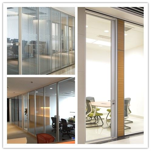 90 glass partition after installation